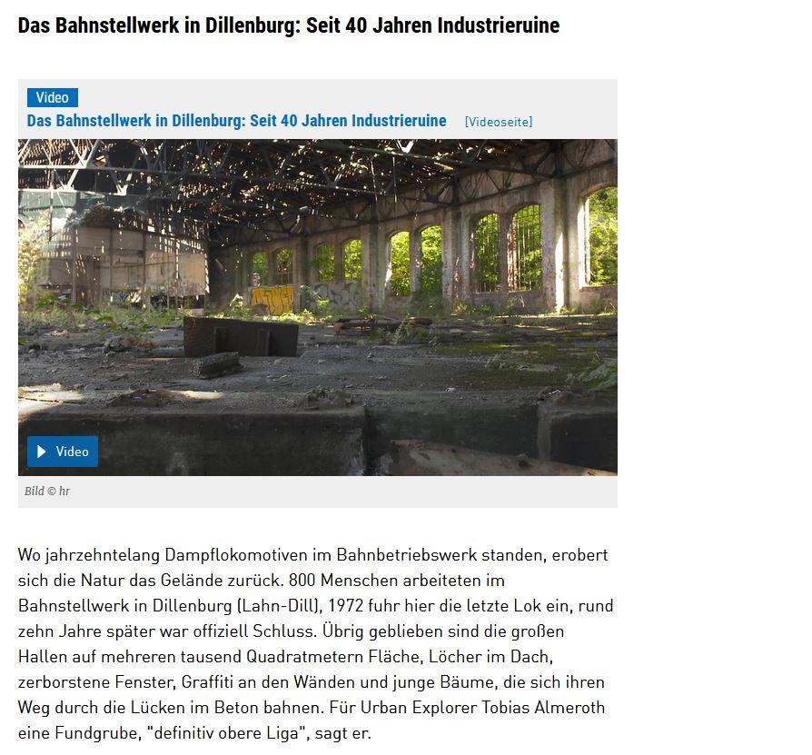 """Screenshot des HR zum Video """"Das Bahnstellwerk in Dillenburg"""""""